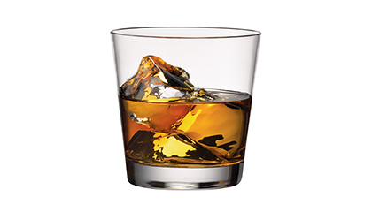 a whisky on the rocks